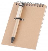 Zápisník s kuličkovým perem z recyklovaného papíru