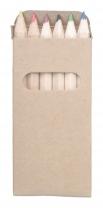 Dřevěné barevné tužky v papírové krabičce