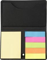 Sada barevných značkovacích lístků v černém kartonovém obalu