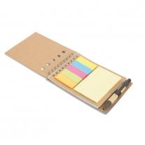 Zápisník s perem a note-it.