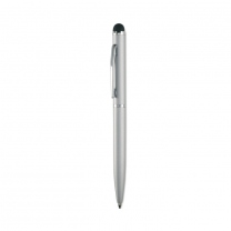 Metal pen with silicone tip