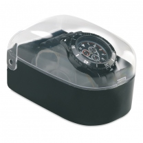 Watch in plastic box