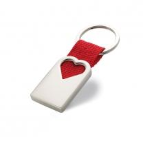 Kovová klíčenka ve tvaru srdce