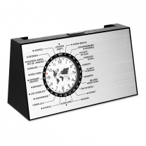 Spinning World time clock