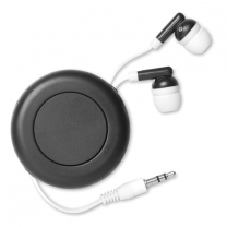 Retractable earphones