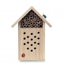 Wooden insect hotel.