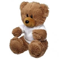 Velký plyšový sedící medvěd v tričku