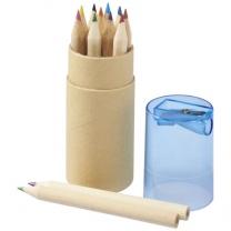 Sada 12 barevných tužek Hef s ořezávátkem