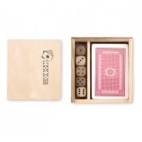 Karty a kostky v krabičce
