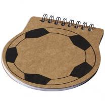 Fotbalově tvarovaný zápisník Score
