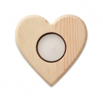 Heart shaped candle holder