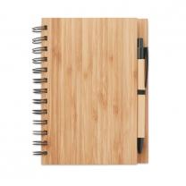 Bambusový zápisník s propiskou