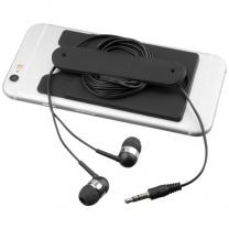 Sluchátka s kabelem a silikonové pouzdro na telefon