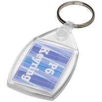 Plastová klíčenka s kovovou sponou Lita
