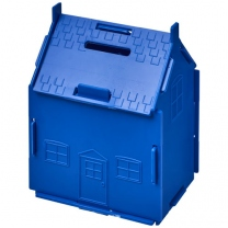 Plastová pokladnička v podobě domu Unit