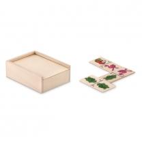 Kids domino set in wooden box