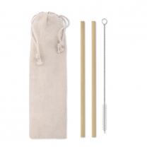 Bambusové brčko s kartáčkem