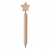 Wooden pen with star on top