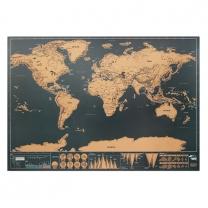 Stírací mapa světa 42x30cm