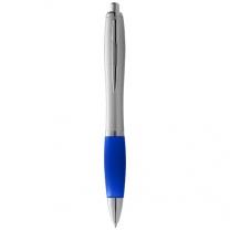 Stříbrné kuličkové pero Nash s barevným úchopem