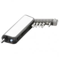 Minikrabička s nářadím a LED svítilnou Reno, 7 funkcí
