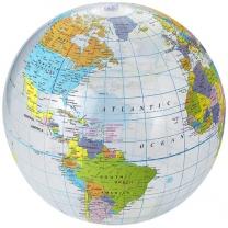 Průhledný plážový míč Globe