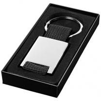Obdélníkový přívěsek na klíče Pablo s tkaným páskem