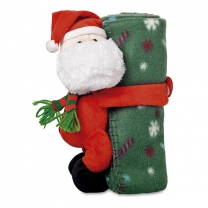 Fleece blanket with santa plus