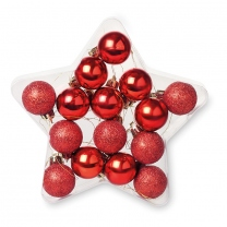 15 baubles in star shape