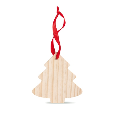 Pine tree shaped wooden hanger